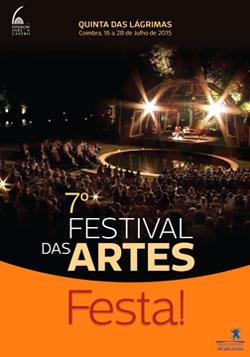 Cartaz do 7.º Festival das Artes, em 2015