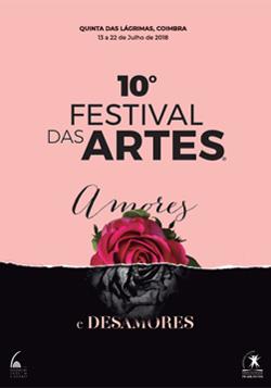 Cartaz do 10.º Festival das Artes, em 2018