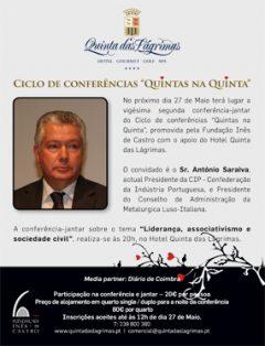 """22.ª Conferência-jantar """"Quintas na Quinta"""""""