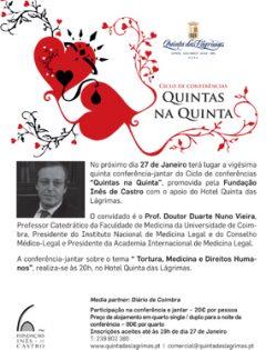 """25.ª Conferência-jantar """"Quintas na Quinta"""""""