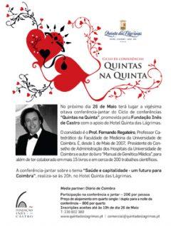 """28.ª Conferência-jantar """"Quintas na Quinta"""""""