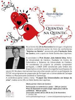 """31.ª Conferência-jantar """"Quintas na Quinta"""""""