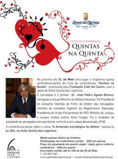 """35.ª Conferência-jantar """"Quintas na Quinta"""""""