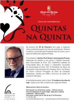 """38.ª Conferência-jantar """"Quintas na Quinta"""""""