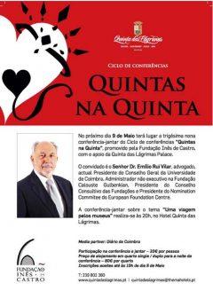 """39.ª Conferência-jantar """"Quintas na Quinta"""""""