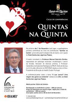 """41.ª Conferência-jantar """"Quintas na Quinta"""""""