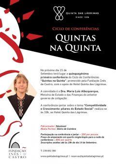 """51.ª Conferência-Jantar """"Quintas na Quinta"""""""