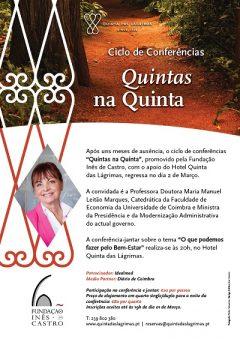 """52.ª Conferência-Jantar """"Quintas na Quinta"""""""